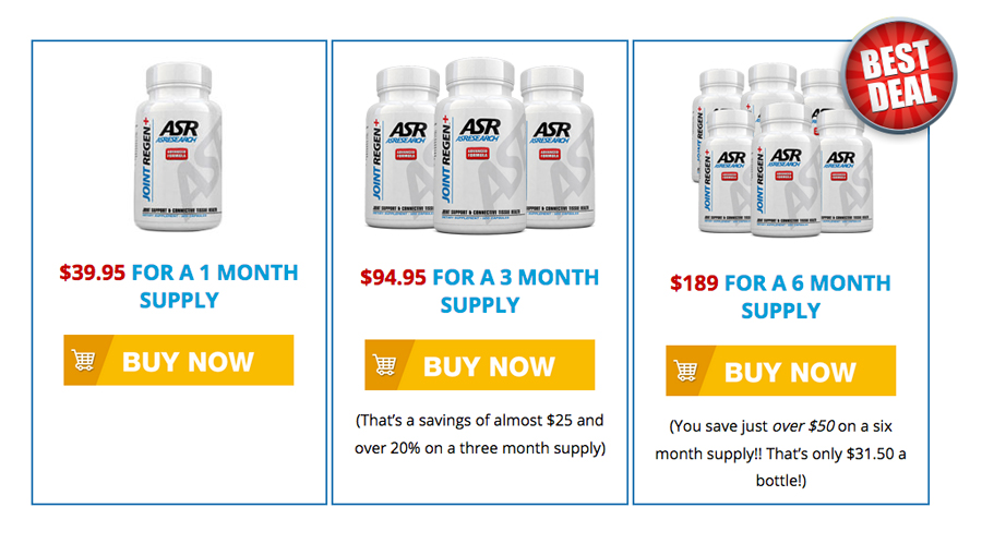 ASR Joint Regen Pricing